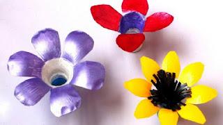 Gambar Bunga Dari Tutup Botol Bekas