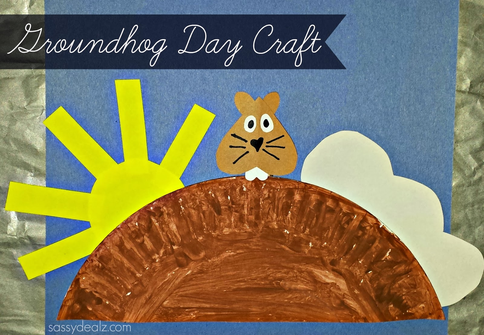 Groundhog Day Craft For Kids Paper Plate