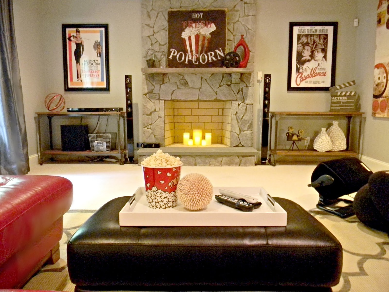 Seaside Interiors: Movie Theater Themed Basement Installed