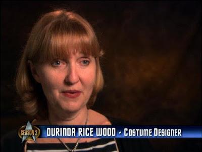 TNG season 2 costume designer Durinda Rice Wood