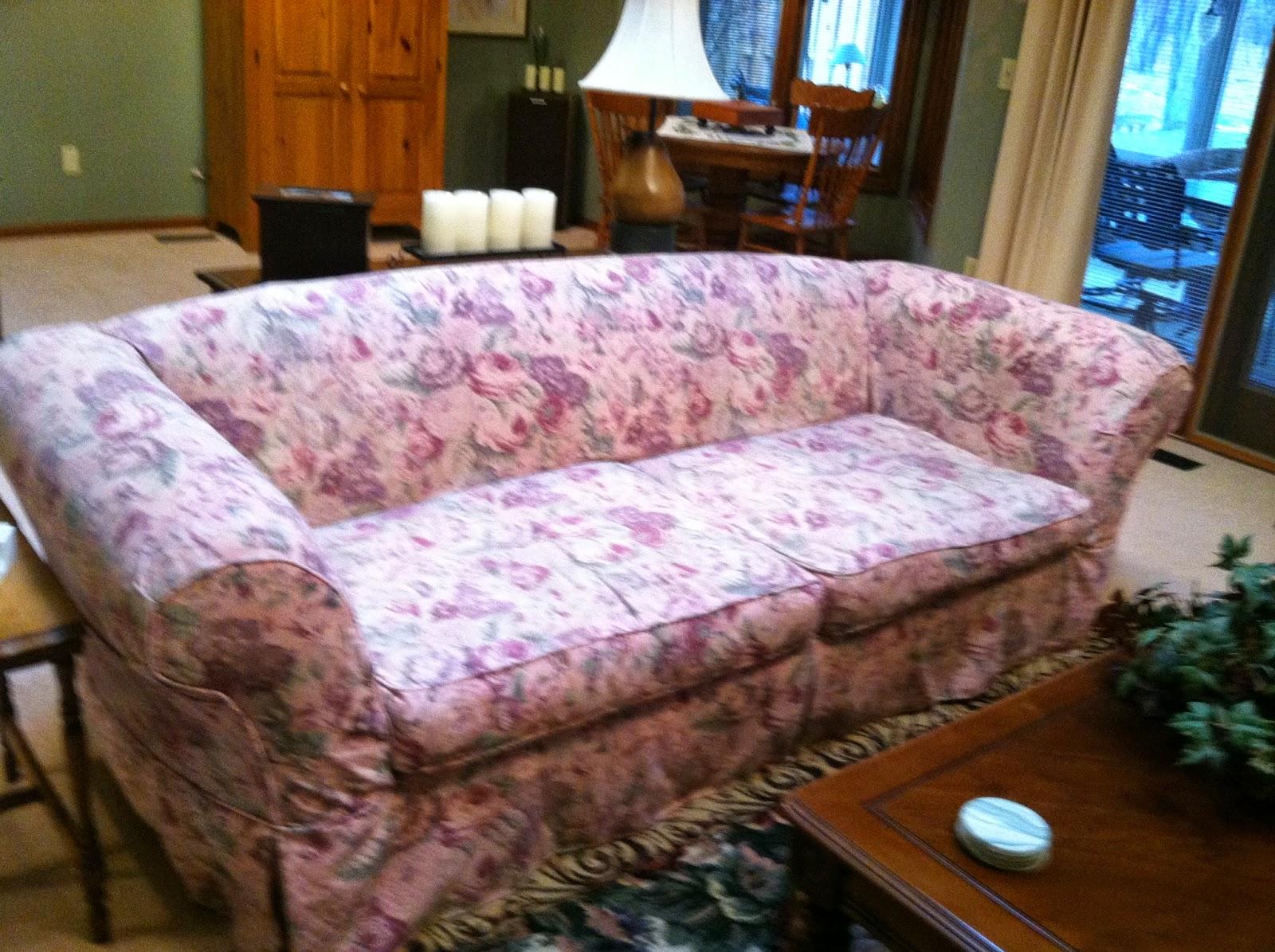 Gray Linen Sofa Slipcover Hudson Woodmark Cozy Cottage Slipcovers