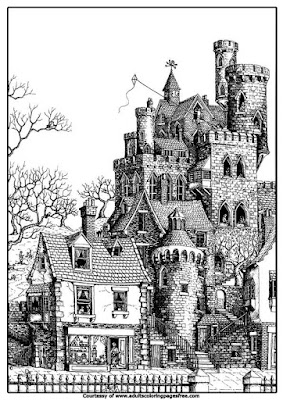 England castle adults architectures coloring pages