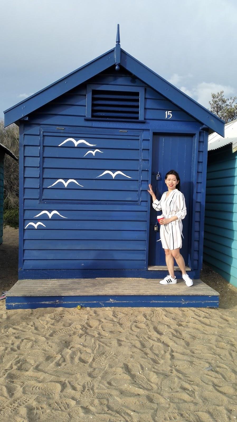 blue bathing box