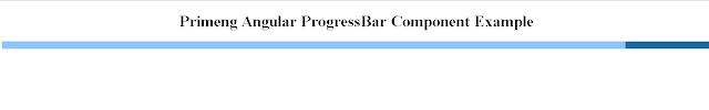 primeng Angular Progressbar indeterminate example