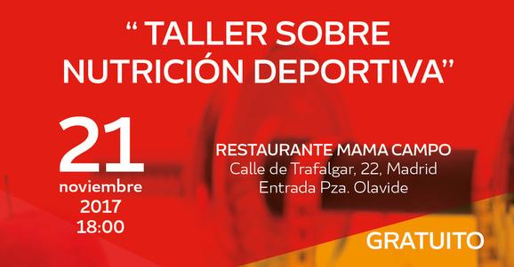 Taller gratuito sobre Nutrición Deportiva con el olímpico Jesús Tortosa