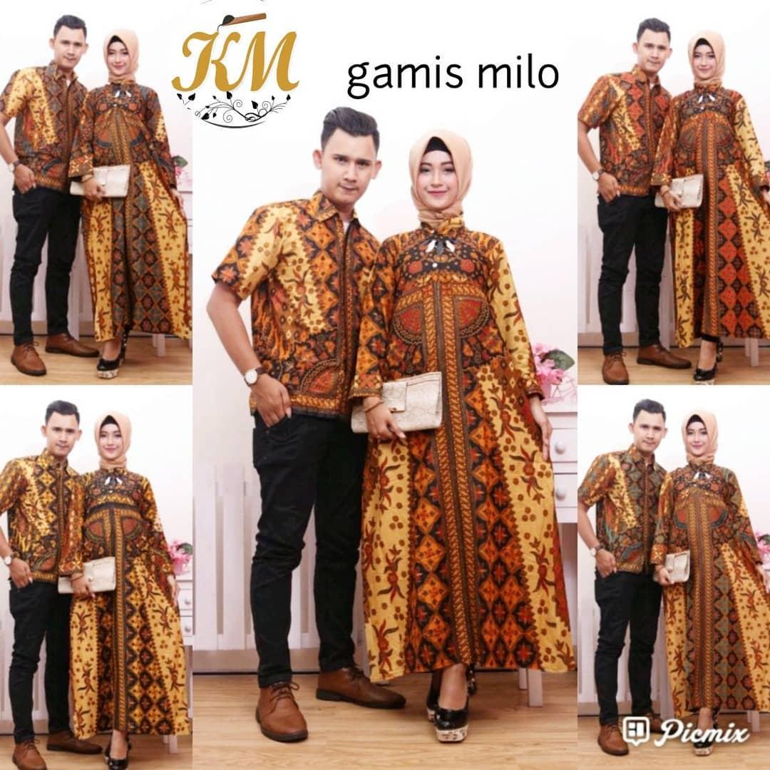 Contoh Baju Couple Baju Gamis Batik Busana Muslim Terbaru 2018