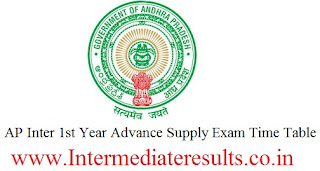 Ap Inter 1st Year Advance Supply Time Table