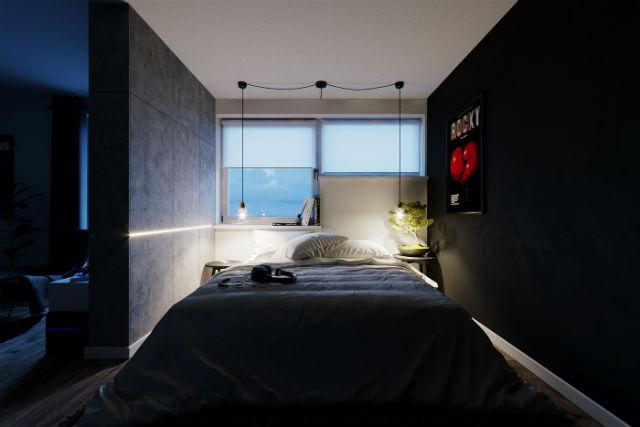 decoración low cost dormitorio iluminación nocturna