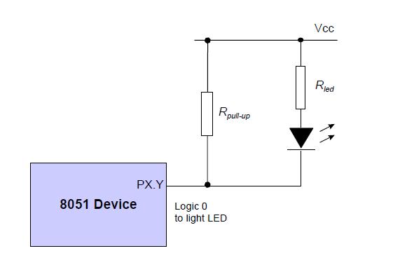 HandBit: Use of pull-up resistors