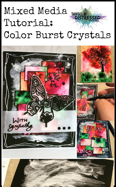 mixed_media_card_handmade_tutorial_ken_oliver_color_burst_crystals_butterfly_stamping_sympathy