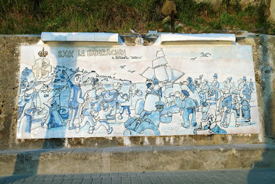 Ribadesella, panel de Mingote