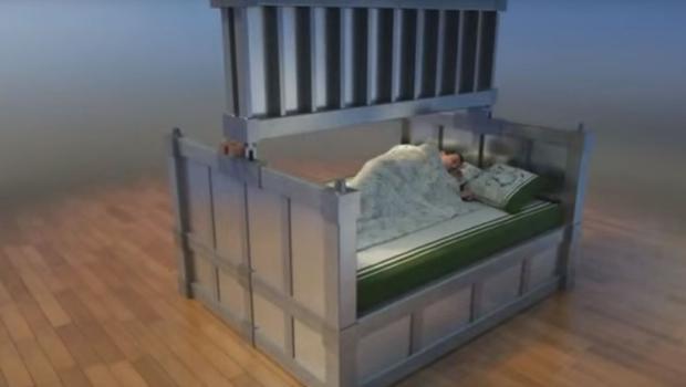 Desain tempat tidur shelter tahan gempa