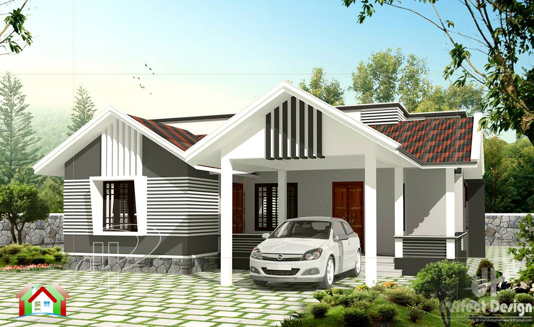 Stunning 1259 square feet 3 bedroom kerala home design for 1600 sq ft house cost