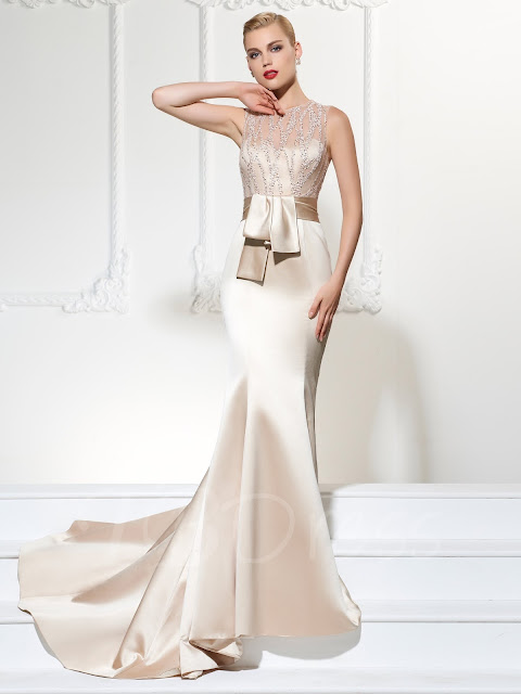 Jewel Trumpet Evening Dress