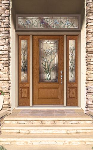 River Doors Feather River Door Bellante Wrought Iron: Sweet Iris