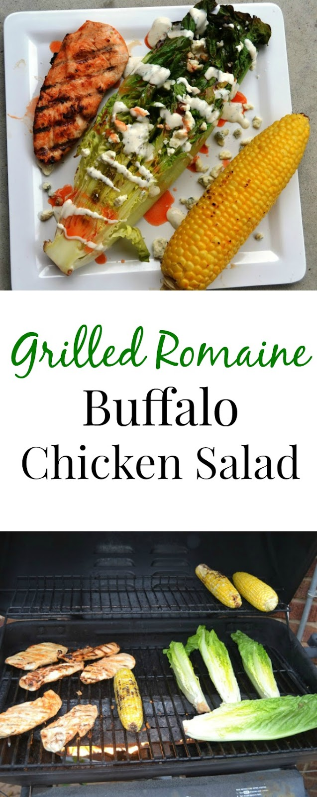 This Grilled Romaine Buffalo Chicken Salad is easy to make and makes the perfect easy meal! www.nutritionistreviews.com