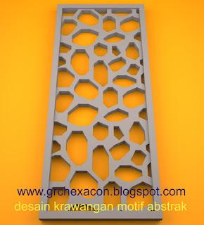 krawangan GRC motif abstrak