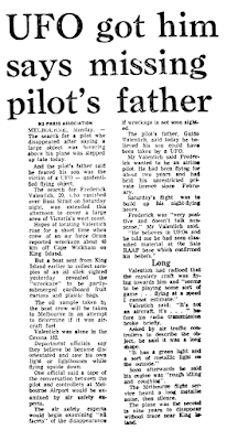 UFO Got Him, Says Missing Pilot's Father – NZ Press Association 10-24-1978