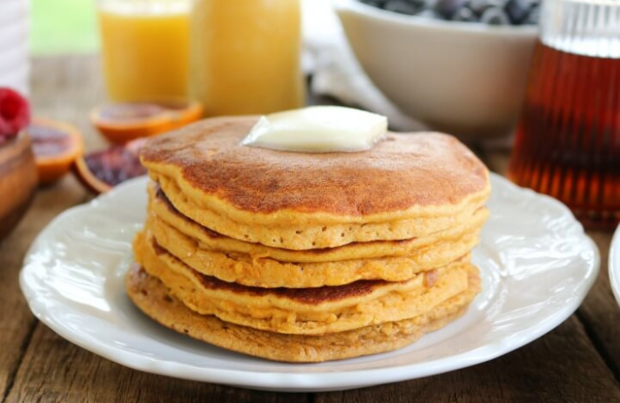Fluffy, Thick Sweet Potato Pancakes #desser #healthycake