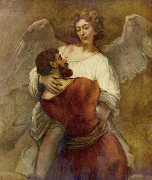 Rembrandt Painting Jacob Wrestling The Angel