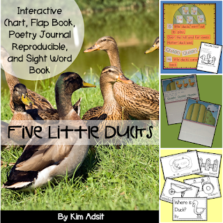 https://www.teacherspayteachers.com/Product/Sight-Word-Reader-and-Interactive-Chart-Five-Little-Ducks-97420