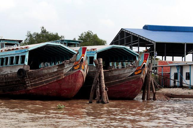 Barcos en el río Mekong