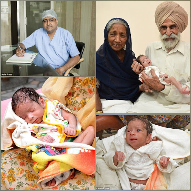 72 year old woman who had a baby and the doctor who treated her in the IVF process
