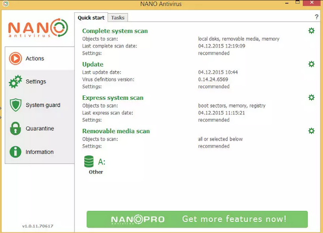 NANO Antivirus 2018 Latest Version