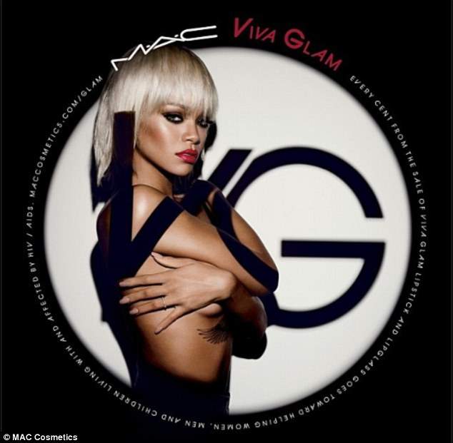 Rihanna goes topless for the new MAC Viva Glam Campaign