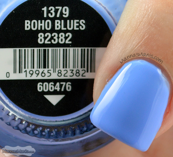 China Glaze Road Trip Boho Blues, an indigo blue creme nail polish