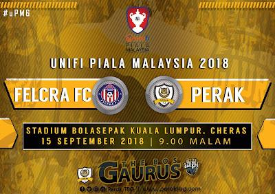 Live Streaming FELCRA FC vs Perak Piala Malaysia 15.9.2018