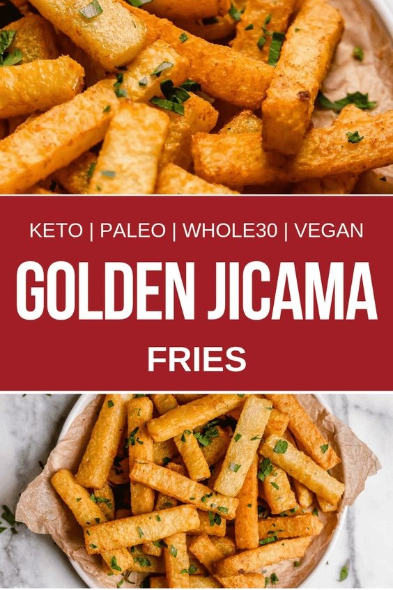 Golden Jicama Fries