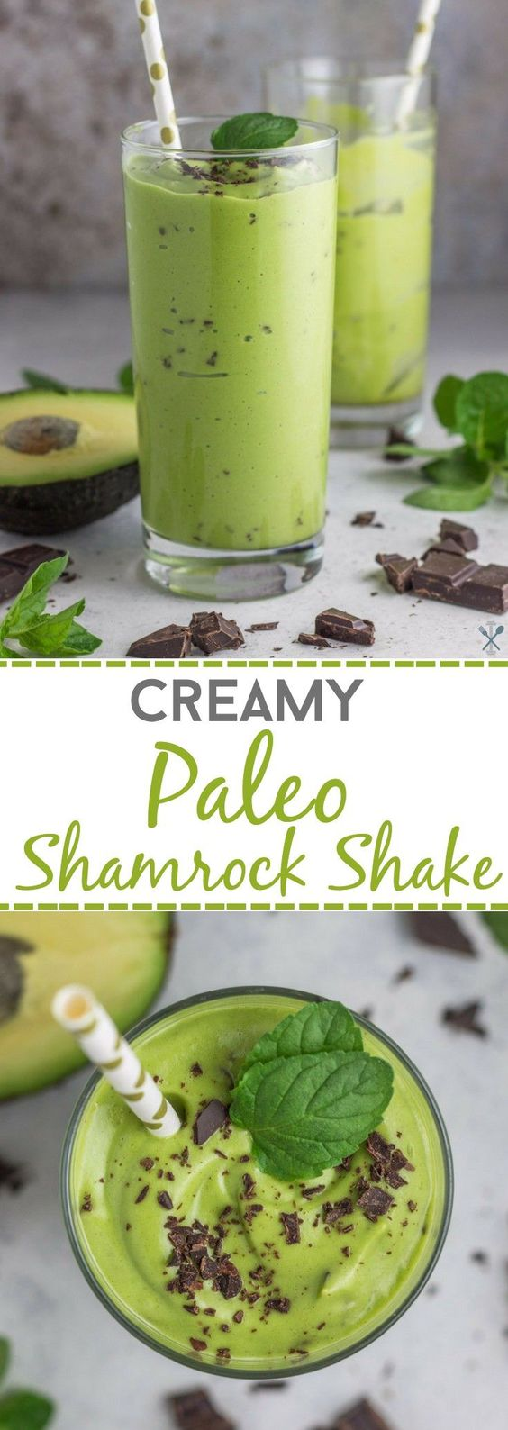 Creamy Paleo Shamrock Shake