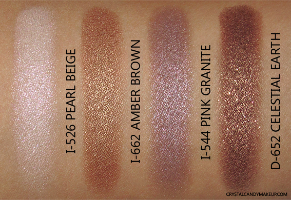Make Up For Ever Artist Shadow Palette Andreja Pejic Review Swatch I-526 I-662 I-544 D-652