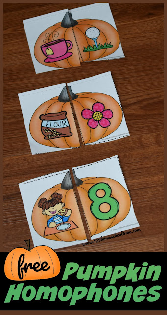 Pumpkin Homophone Puzzles