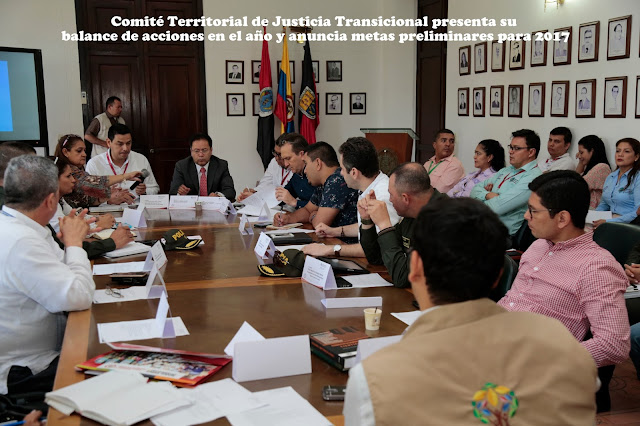 Gobernador NdeS William Villamizar instala sesión extraordinaria del Comité Territorial de Justicia Transicional #RSY #OngCF