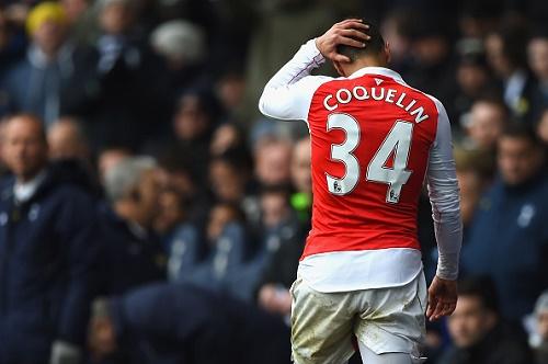 Cầu thủ Francis Coquelin khiến cho đội tuyển Arsenal phải nhận nhiều thất bại