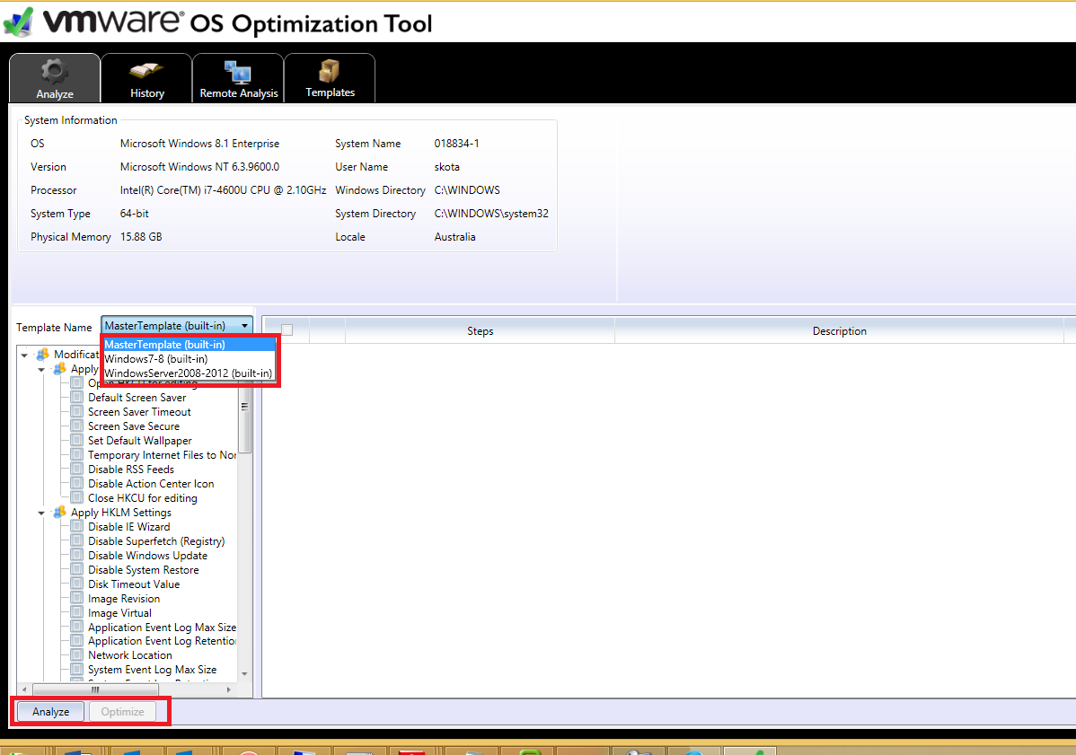 Windows 7/8, Widnows 2008/ 2012 RDSH optimization tool