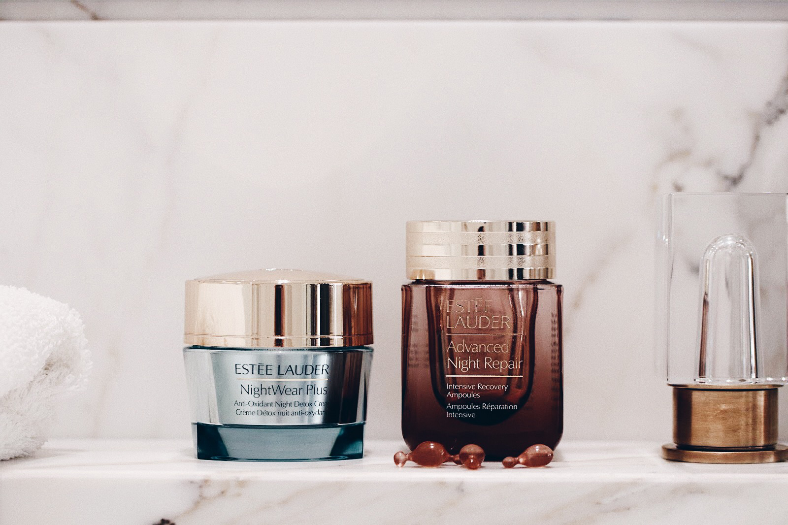 estee lauder advanced night repair ampoules nuit night wear plus creme detox nuit avis test