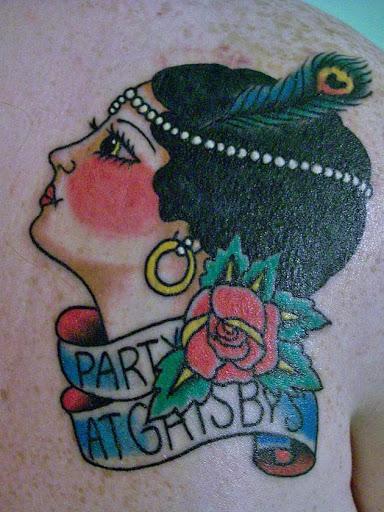 A festa de gatsby da tatuagem