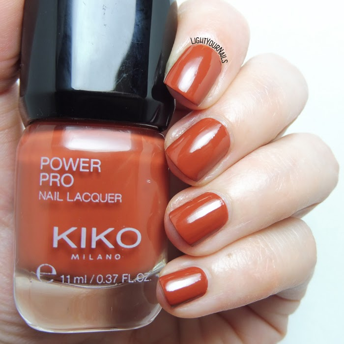 Kiko Power Pro 117 Brick On Trend | Light Your Nails!