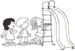 Brincadeiras crianças-escorregador