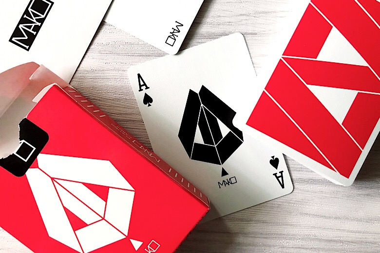 Results image for MAKO RED & BLACK PLAYING CARDS