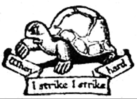 Tortoise, symbol of the Fabian Society