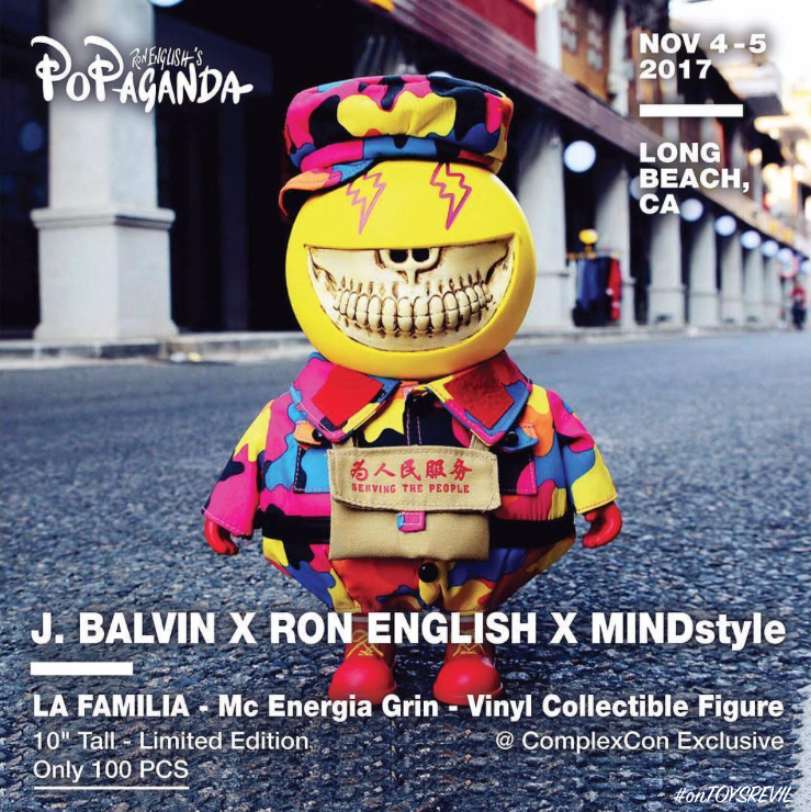 """MC ENERGIA GRIN"" by J. Balvin x Ron English x MINDstyle   ComplexCon 2017 ae3aaa1b1d6c1"