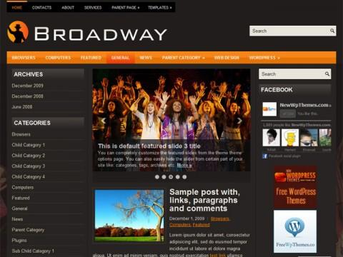 Free Broadway Neat New Theater Wordpress Theme