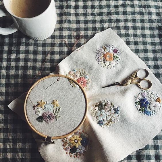 embroidery buttons
