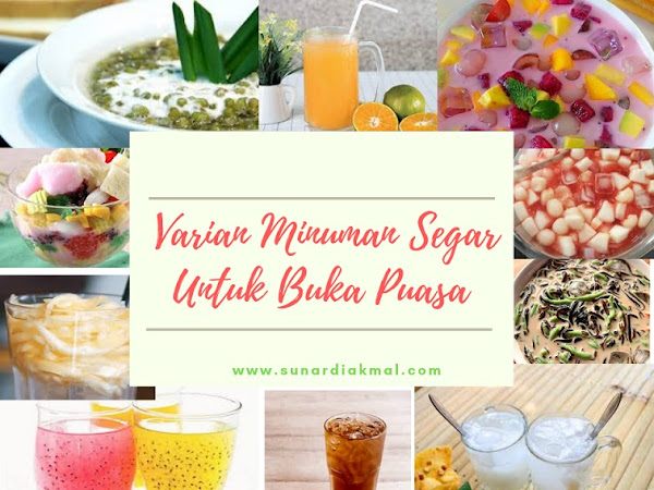 Varian Minuman Segar Yang Pas Untuk Menemani Buka Puasa Di Bulan Ramadhan