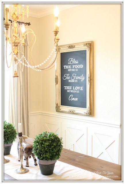 French Country Dining Room- Blessings Chalkboard-From My Front Porch To Yours