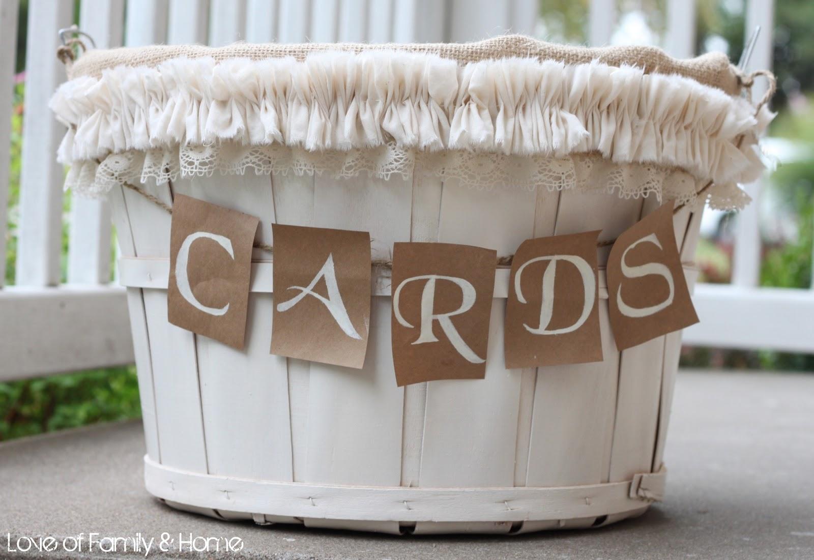 DIY Wedding Card Basket...